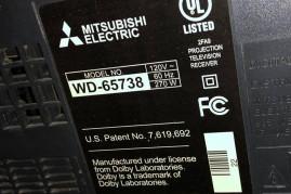 "Mitsubishi WD-65738 65"" 3D CAPABLE DLP HDTV"