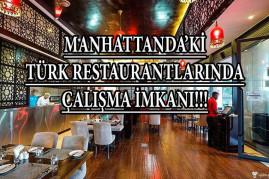 Manhattanda'ki türk restoranlarda çalışma imkanı!!