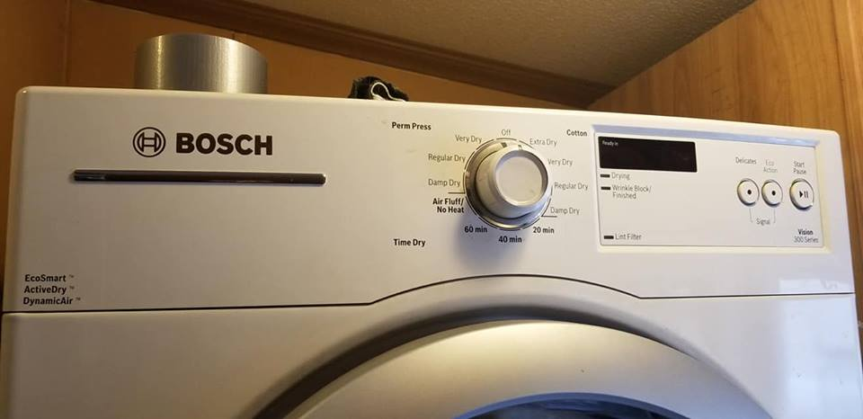 Maytag washer and Bosch dryer.