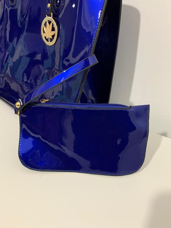 BRAND NEW ROYAL BLUE 3 PIECE HAND BAG SET