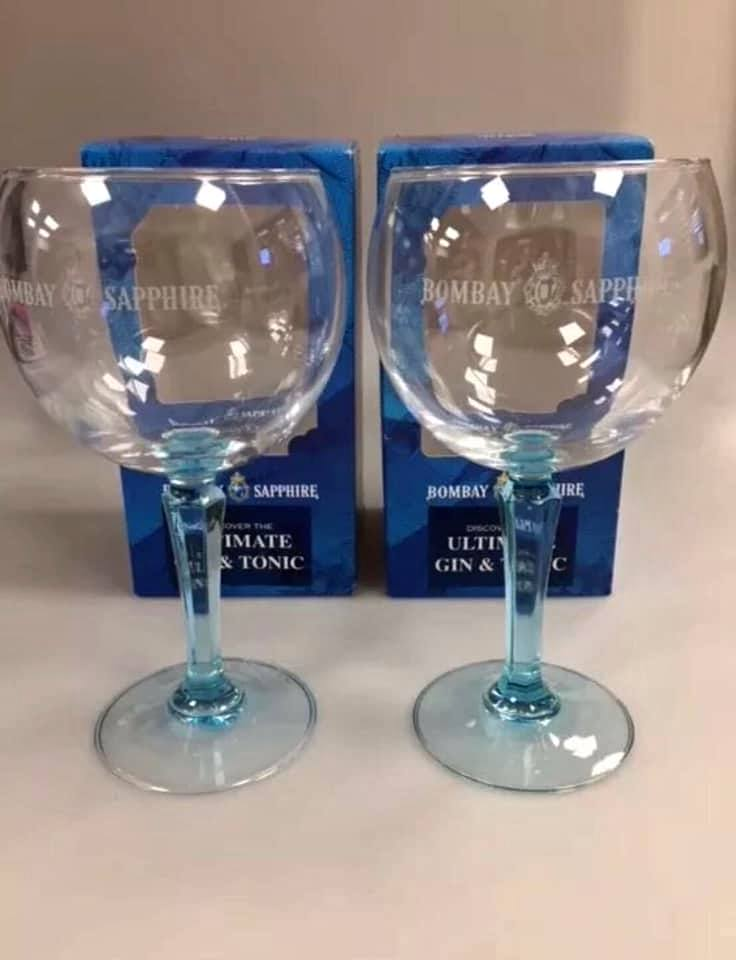 Bombay Sapphire Gin Glasses Xmas Gift, new, boxed.