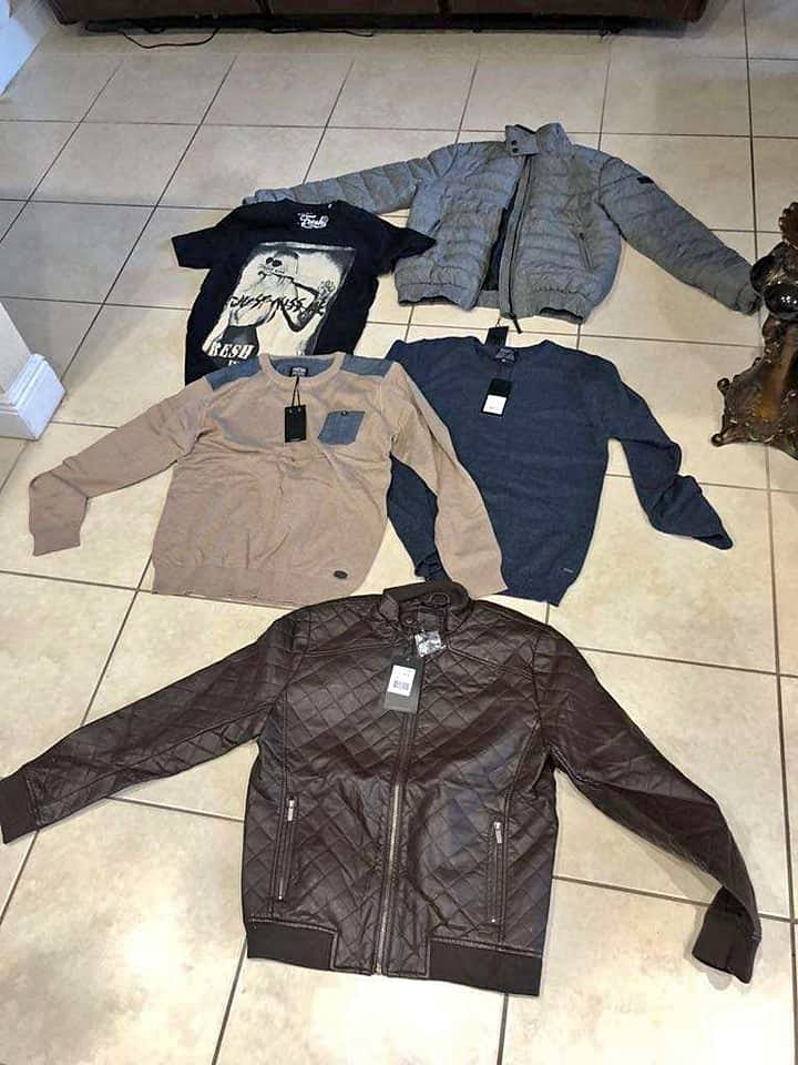 jackets S M L XL negro marron