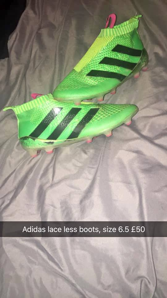 Adidas lace less boots size 6.5 £50