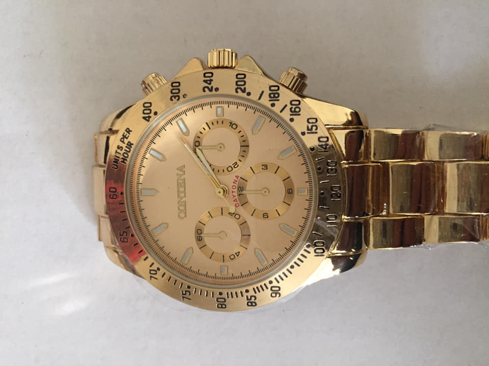 Men's gold tone watch new