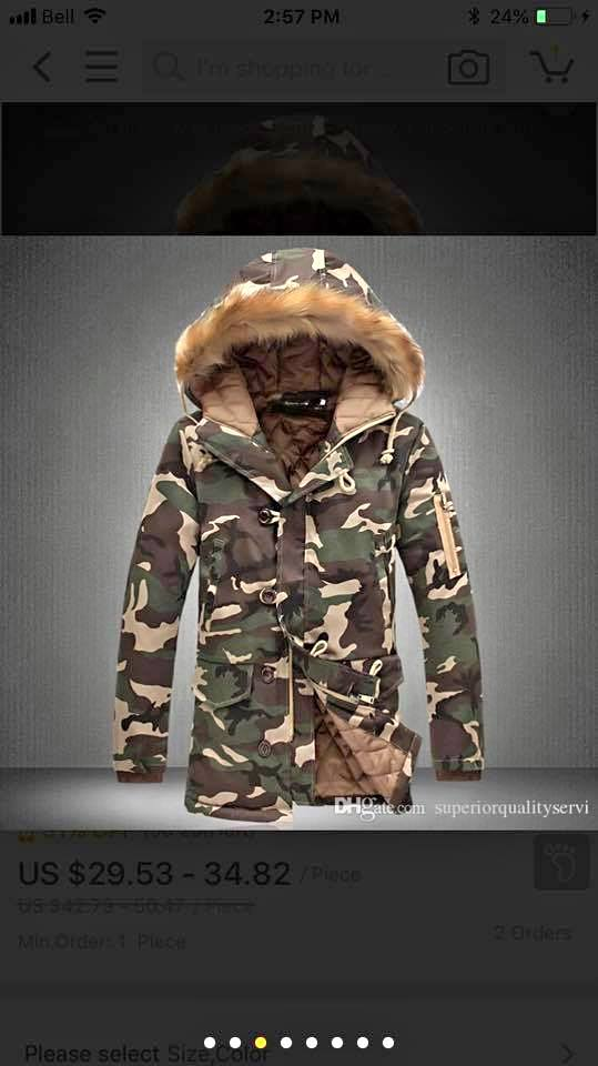 Winter jacket-army style
