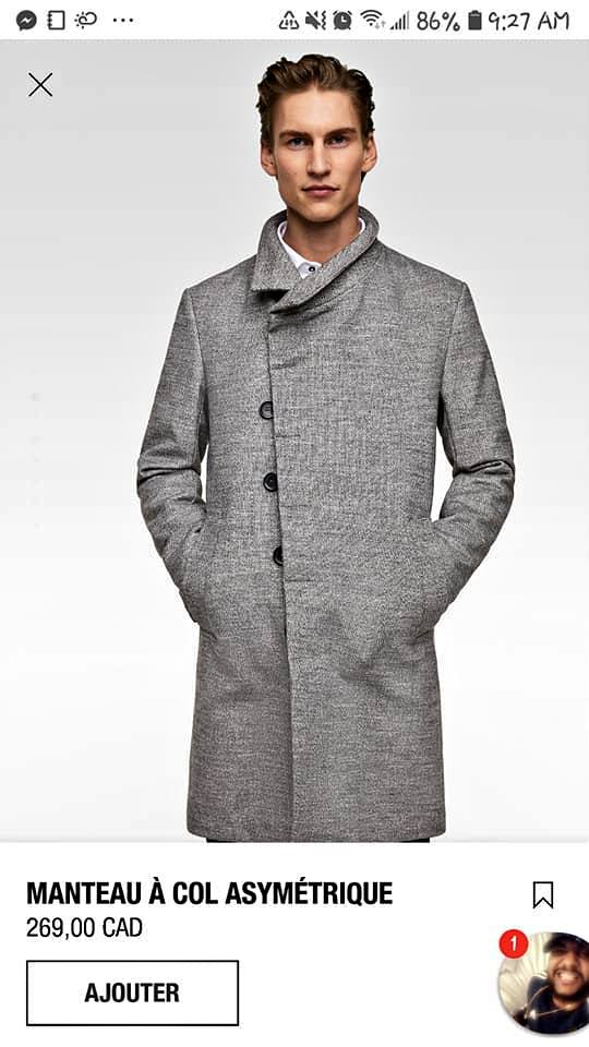 Zara Mens coats