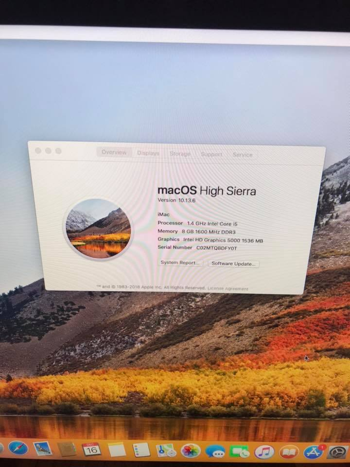 Apple Imac mid 2014 21.5""